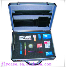 Stylish silver aluminum attache case/aluminum briefcase/beautiful carry case