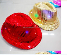 New Hot Lovely jazz party flashing led hats Halloween led Jazz Hat