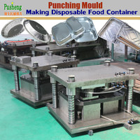 Top grade disposable aluminum foil take away food container making machine and punching moulds