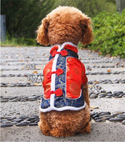 Dog Winter Coats Tang Suit Cat Costumes Puppy Jacket Chinese New Year Clothing