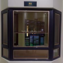 YiFa brand new design bronze anodized thermal break french aluminum casement window