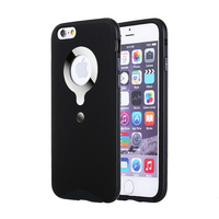 New design PU + PC 2 in 1 hybrid case protective back cover for iPhone 6