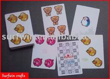 plastic learning cards with animal pattern