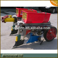2 row corn planter matched walking tractor