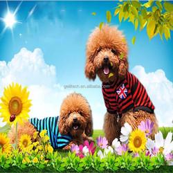 Fashion Pet T-shirt Lovely Dog 100% Cotton-padded Doggie Clothing Dog Stripe Black Clothes