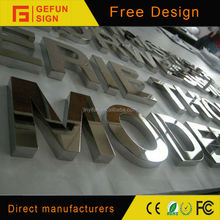 Mirror Ploshed Stainless Steel Letters And Number