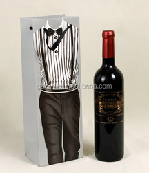 2015 Top Quality recycled red wine Paper Bag