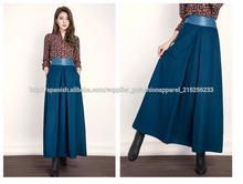 Gran tamaño de las mujeres largas faldas de lana