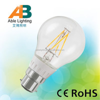 A60 6w 220-240v dimmable filament led bulb