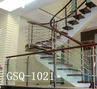 2015 stainless steel wood stair,staircases