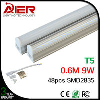 2ft hot t5 fluorescent tube led 10W for indoor lighting