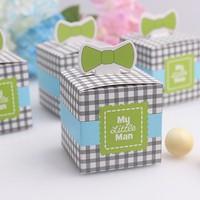 2015 new design luxury gift box wedding decoration supply bowknot pink favor box