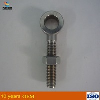 Small stainless steel lifting eye bolt