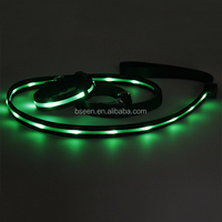 Pet collar led fashion led dog collars and leashes chew proof dog leash