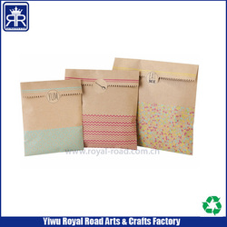 Kraft paper files bag with sticker seal