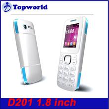 Wholesale Cheap Phone D201Dual SIM Dual Sandby 1.8 inch FM Radio 0.3MP Camera GPRS Bluetooth Bar Cell Phone