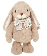 Cute Plush Bunny with Bow/ Plush Lovely Bunny Standing High 25cm/Soft Stuffed Animal Toy Customized Grey Rabbit with Bow