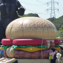 Novelty inflatable hamburger decoration for celebration