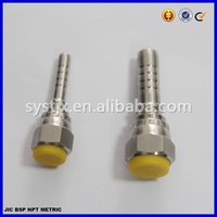 China supplier ss fitting crimped stainless steel fitting