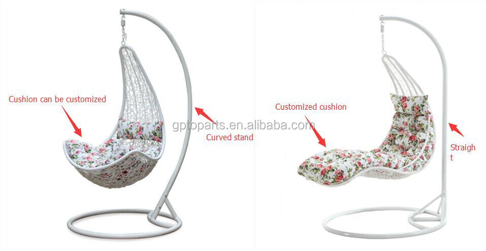 wicker hanging swing egg chair rattan in outdoor pod double sea