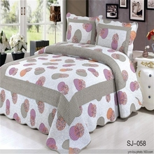 Applique manufacter double bed sheets size and weight