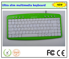 chinese factory sell Ultra slim multimedia wired keyboard with USB
