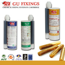 Fast gelling fast curing chemical resistance anchoring adhesive