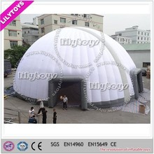 25*25M outdoor white big inflatable igloo tent made in China manufacturer