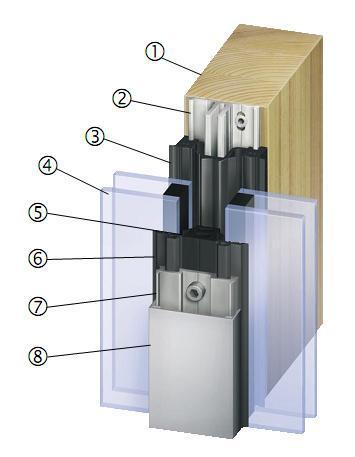 allemagne style en bois mur rideau de verre fen tres id. Black Bedroom Furniture Sets. Home Design Ideas