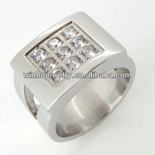 fashionable mens jewelry 316L stainless steel wholesale titanium rings