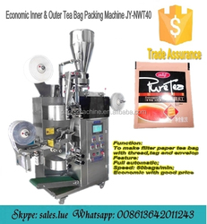 Full automatic filter paper tea bag packing machine with envelop
