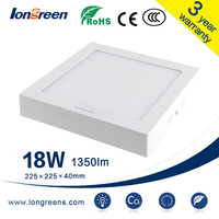 Ultra Bright 6W 12W 18W 25W Surface mounted Square led panel light ceiling downlight AC85-265V for kitchen bathroom lighting