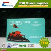 Smart discount member plastic pvc card with QR code