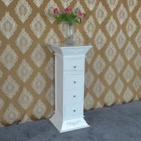 Oak reproduction bedroom furniture high quality new design white kd drawer chest