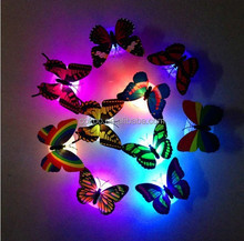 2015 hot sale Design unique advertising butterfly shaped led badge