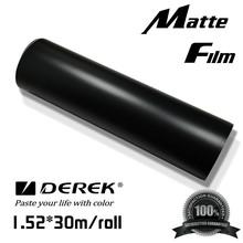PVC material black matte hot sale colored car wrap vinyl