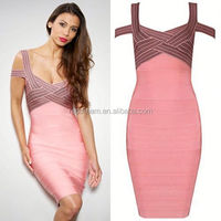 guangzhou bandage dress wholesale/OEM/ODM fashion dress philippines