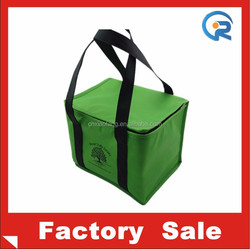 Eco-friendly promtional non woven insulated food delivery bag with silk printing