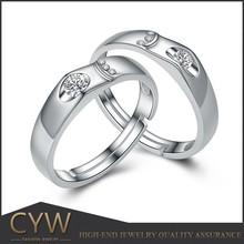 CYW fashion diamond couple rings engagement bands jewelry China website wholesale