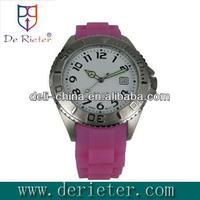 2013 factory price flat sport watches for men Steel shell glue belt silicone Quartz watch