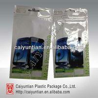 Screen protector packaging bag with ziplock