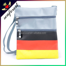 Germany national flag printing cheap sports promotional sling bags