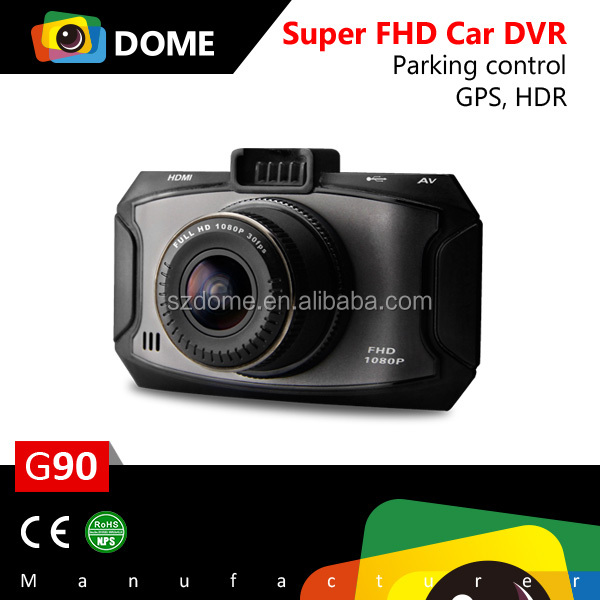 dome top selling hidden car dvr camera g90 ambarella a7 gps fullhd car dvr buy hidden. Black Bedroom Furniture Sets. Home Design Ideas