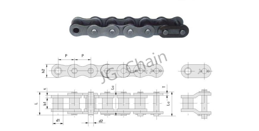 Оптовая заводов китая iso 9001 высокая точность жаропрочных цепная передача 16в 1 роликовые цепи (серия b)
