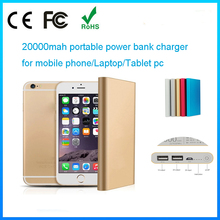 Hot sale universal portable charger mobile power bank 20000mah