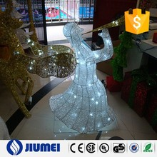 fairy with horn christmas decoration with led light