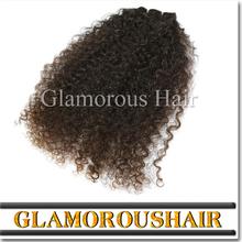 Grade 7a Virgin Hair Indian Hair Afro Kinky Curly Humain Hair