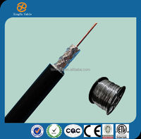Made in China high quality RoHS compliant 75 OHM rg11 solid copper coaxial cable