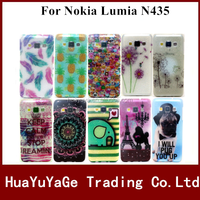 Free shipping phone cases glitter print TPU cover soft case for Nokia Lumia 435