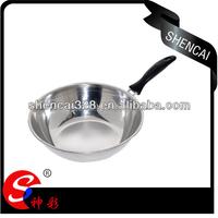 Hot Sale Stainless Steel Deep Frying Pan / boiling Pan / single handle wok